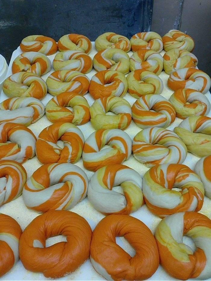 Candy Corn bagels