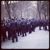 Many police gather in Madison Square Park