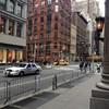 Barricades near ABC Kitchen, where Obama will have dinner