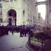 Police gather in Madison Square Park