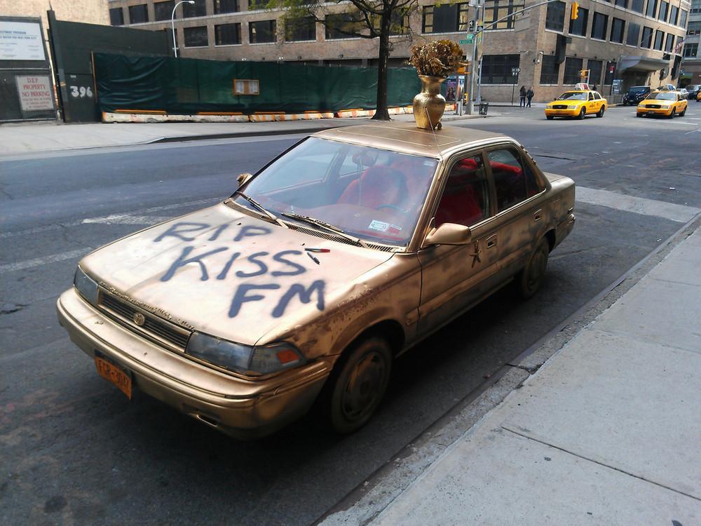 R.I.P. KISS-FM golden car on Hudson Street
