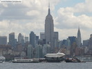Enterprise in front of the Empire State Building