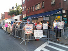 Protesters near Obama's fundraising dinner