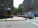 NYPD officers stationed at the Seward Park Houses