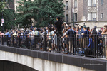 Tudor City overpass packed with photographers