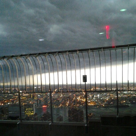 Leading edge of the storm seen from the Empire State Building