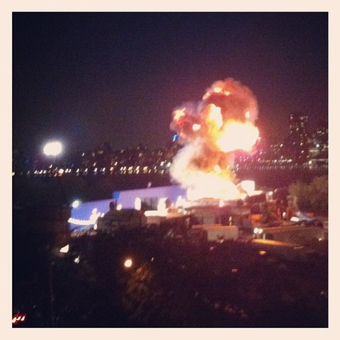 Explosion along the East River