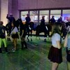 Mounted police outside the Coliseum