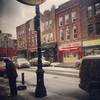 The snow begins to fall in Brooklyn