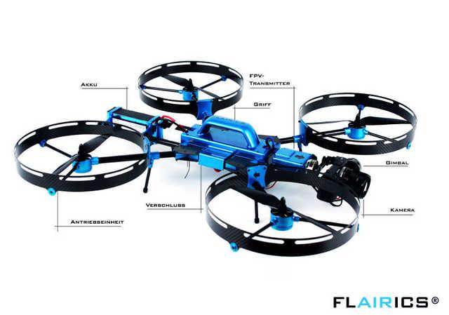 Flairics quadcopter