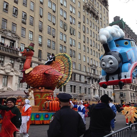 The beginning of the parade