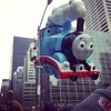 Thomas the Tank Engine looks at all his fans