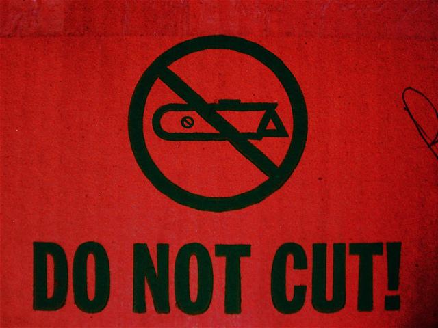"""""""No box cutters"""""""