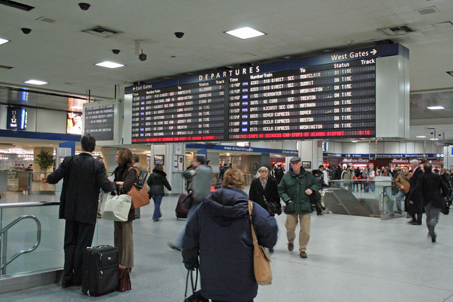 Penn Station crowds