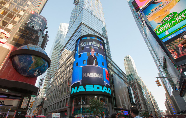 NASDAQ screen in Times Square