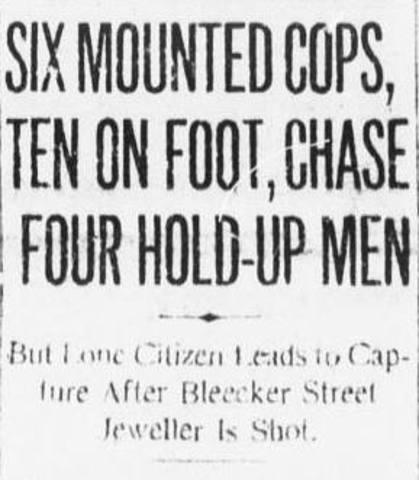 Bleecker Street Robbery Headline