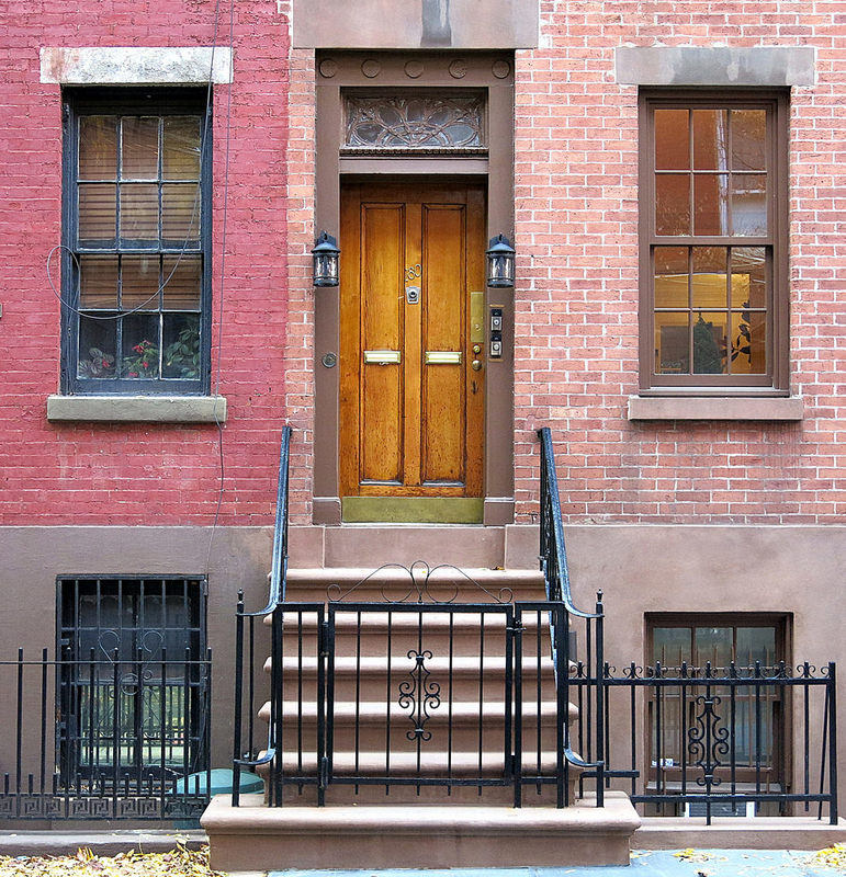 Front door (1839), Waverly Place, Greenwich Village, New York City