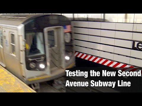 Testing the Second Avenue Subway