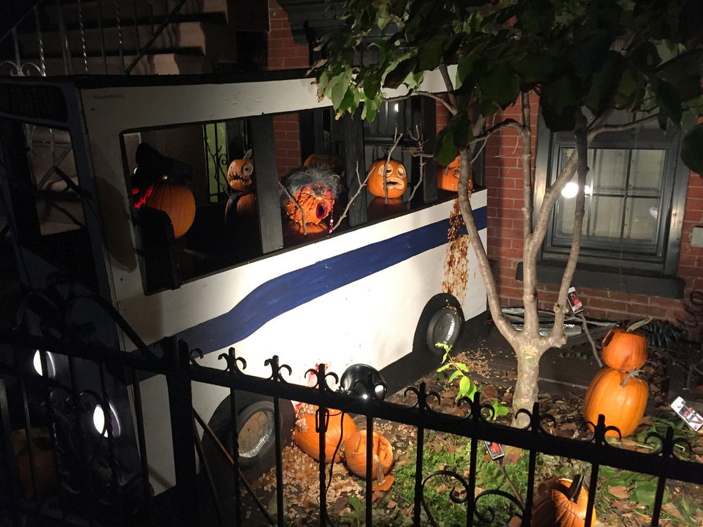 Boerum Hill haunted Halloween bus