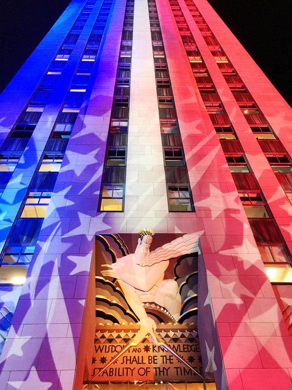 Rockefeller Center during Election Day: Democrazy Plaza