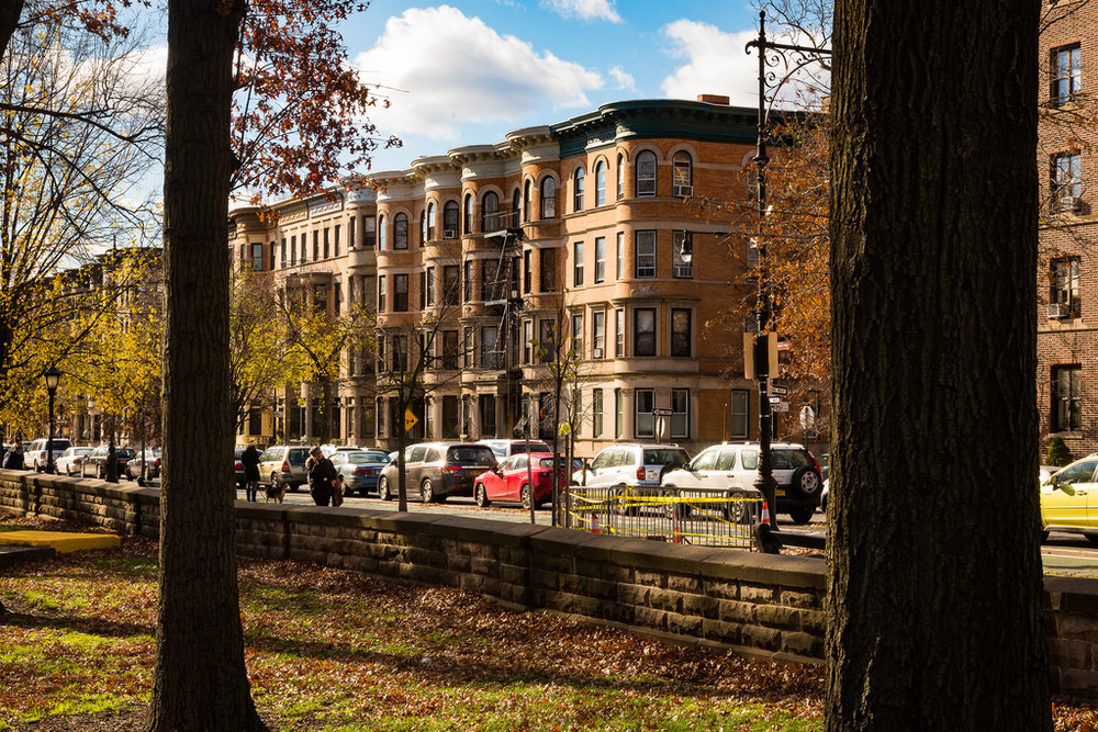 Brooklyn Street Scenes - Prospect Park West at 10th Street