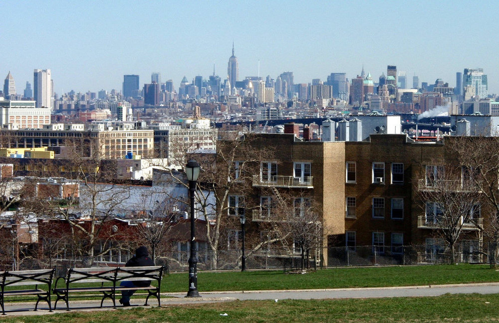 Skyline from Sunset Park,Brooklyn.
