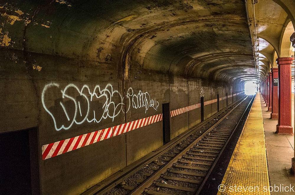 Waiting For The Q Train #subway #graffitti #transit #mta #brooklyn #nyc #newyorkcity #newyork