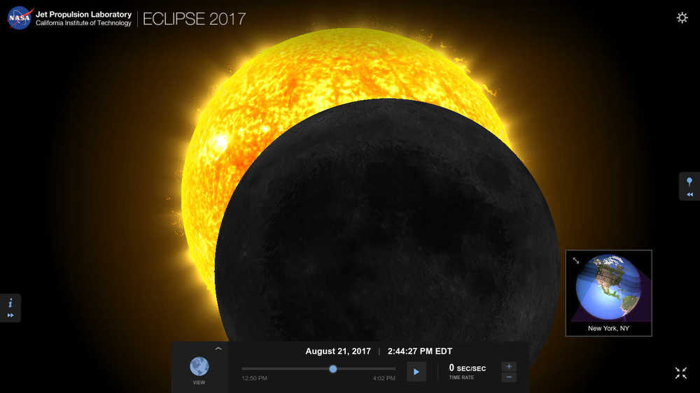 Eclipse as seen from NYC