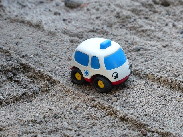 Ambulance, Bobo, Care, Sand, Toy