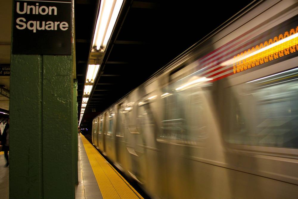 Union Square Subway blur
