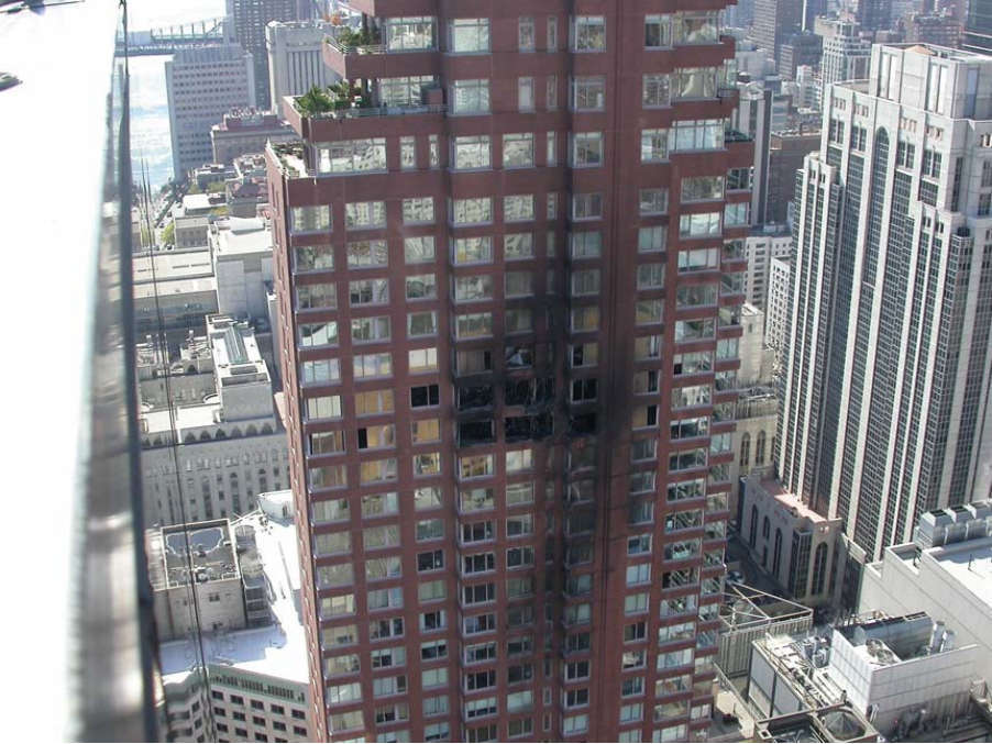 Impact site at the Belaire Condominiums