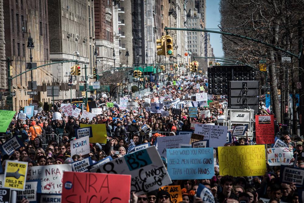 Mayor Bill de Blasio joins tens of thousands demonstrators for