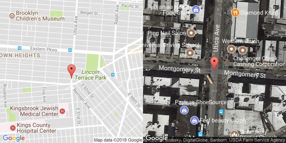 Montgomery Street and Utica Avenue, Brooklyn