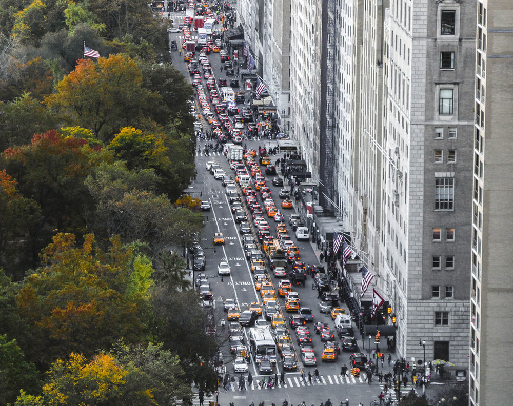 Traffic on Central Park South