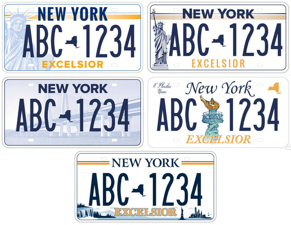 Proposed license plate designs