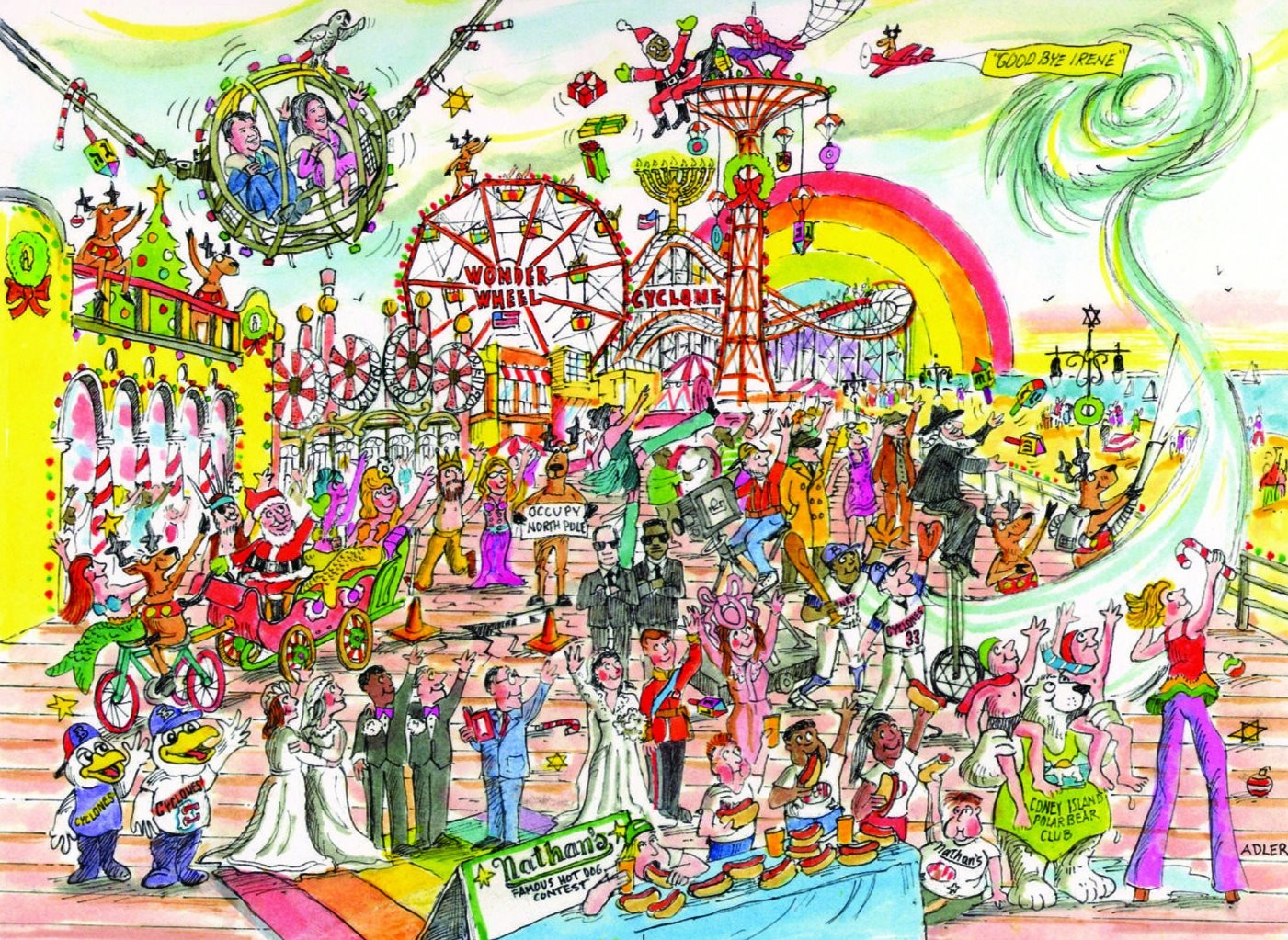 Coney Island Christmas.Happy Holidays From Marty Markowitz A Coney Island