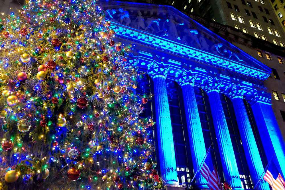 NYSE christmas tree